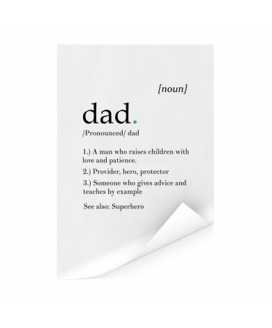 Vaderdag - Definitie Dad Poster